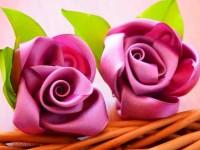 Атласные цветы своими руками — как создать красивый букет из текстиля? 64 фото-идеи