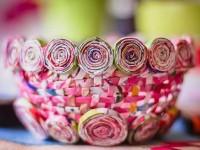 Поделки из газетных трубочек: пошаговая инструкция процесса плетения. 105 фото поделок из газеты!