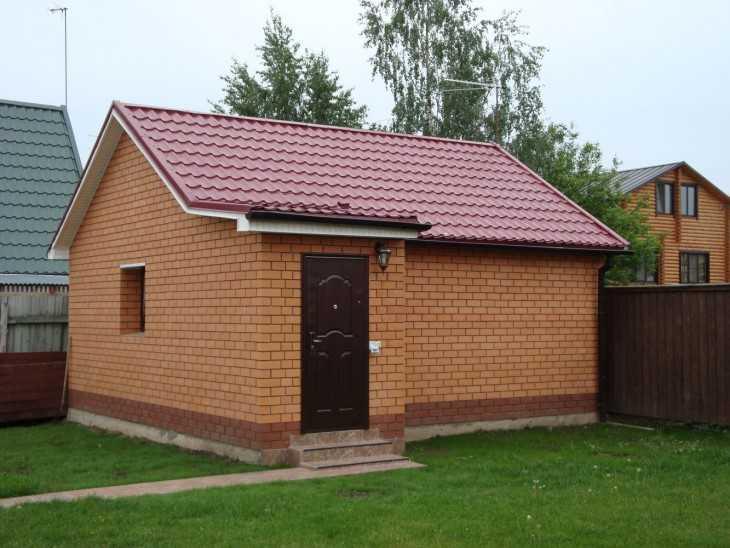 Строим баню из кирпича на даче своими руками 48