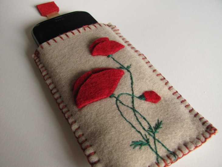 Чехлы для телефона своими руками из фетра