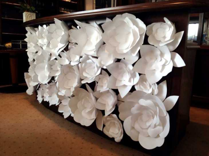 Большие цветы своими руками для декора