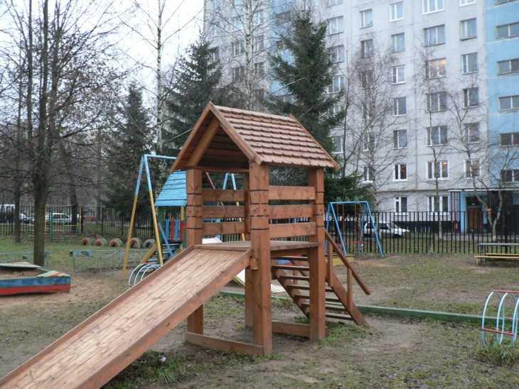 Горка как сделать на детской площадке 228