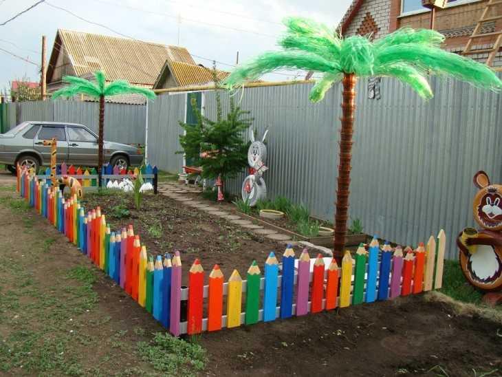 Забор для цветов своими руками из подручных материалов