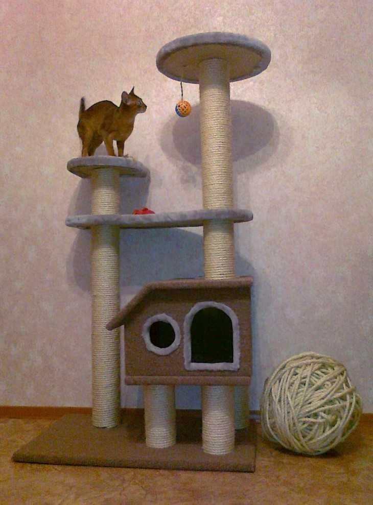 Домики для кошек своими руками мастер класс 100