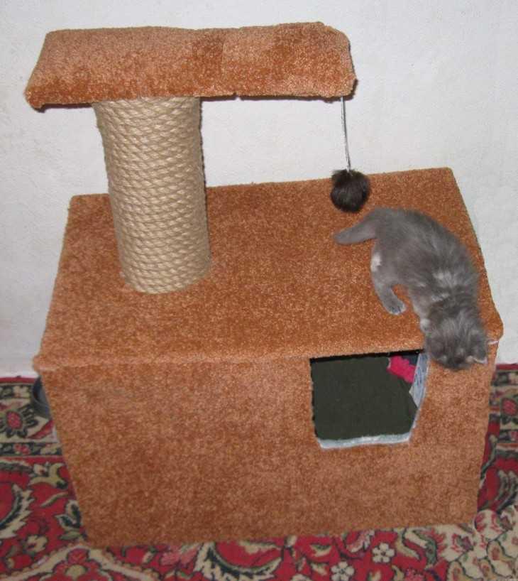 Простой кошкин дом своими руками 59