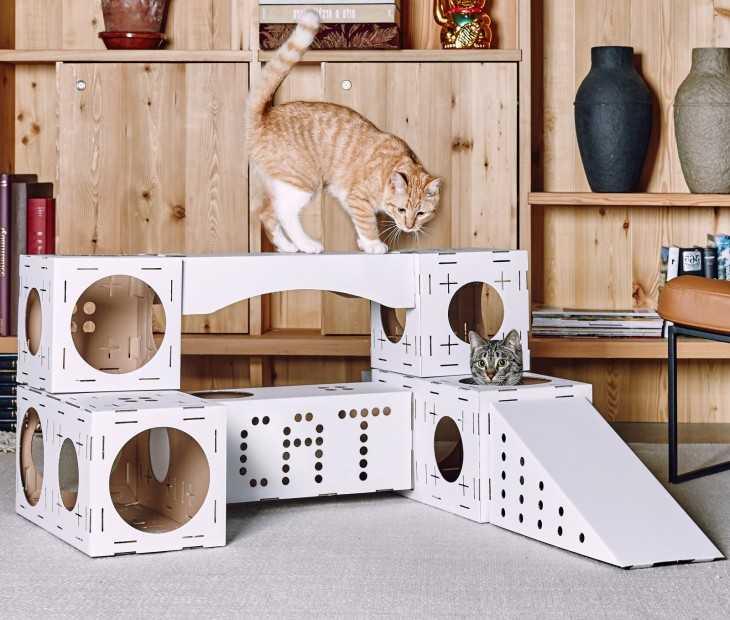 Домик для кошки своими