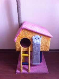 Как дома сшить дом кошки