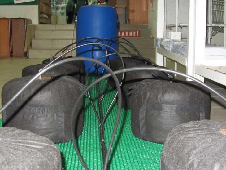 Система полива огорода фото