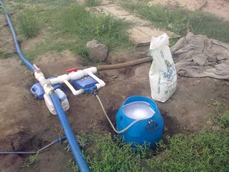Инжектор для капельного полива своими руками