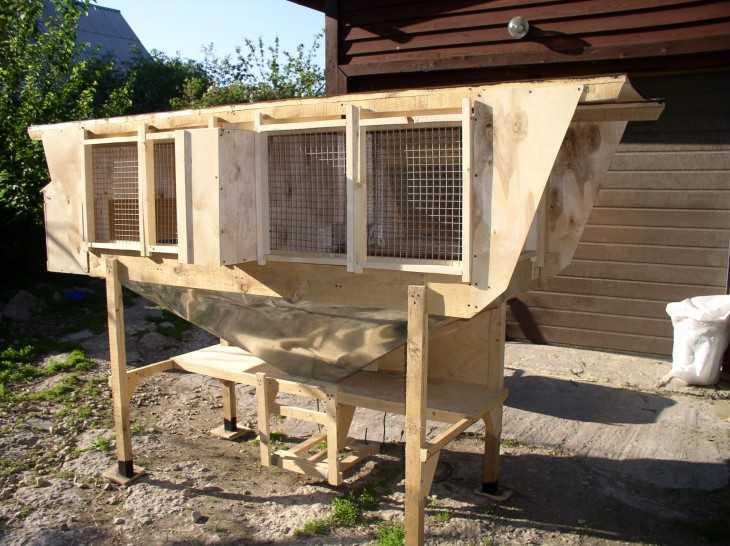 Клетки для содержания кроликов своими руками подробные чертежи и схемы фото 348