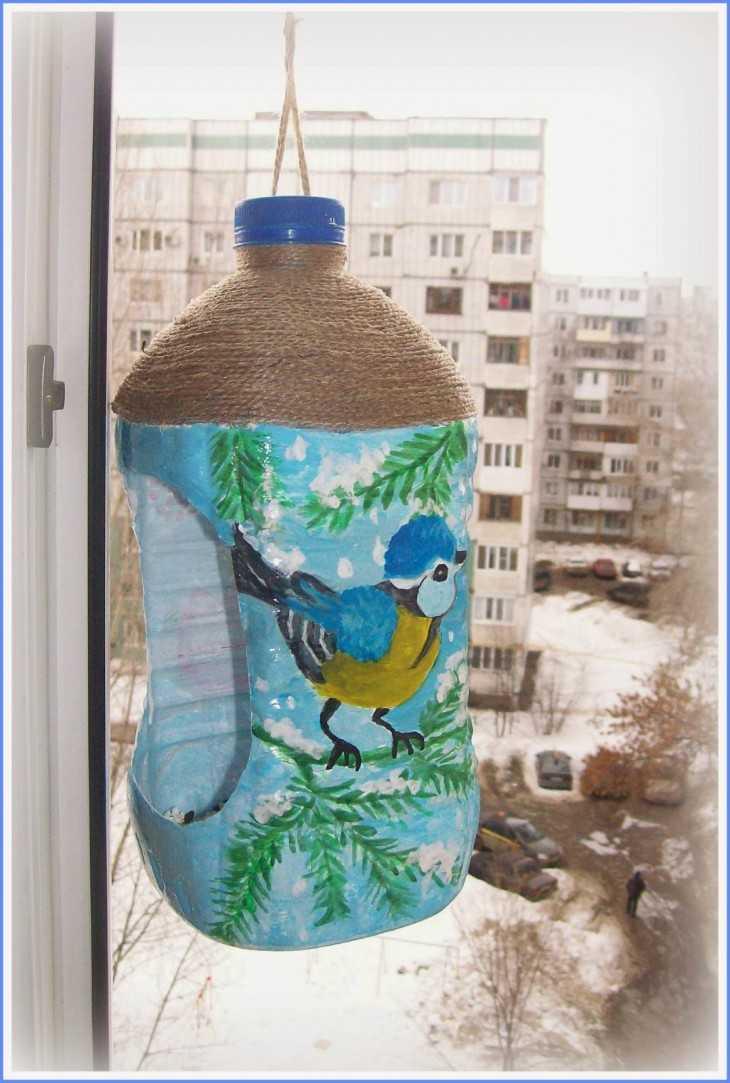 Скворечник из пластиковой бутылки своими руками фото