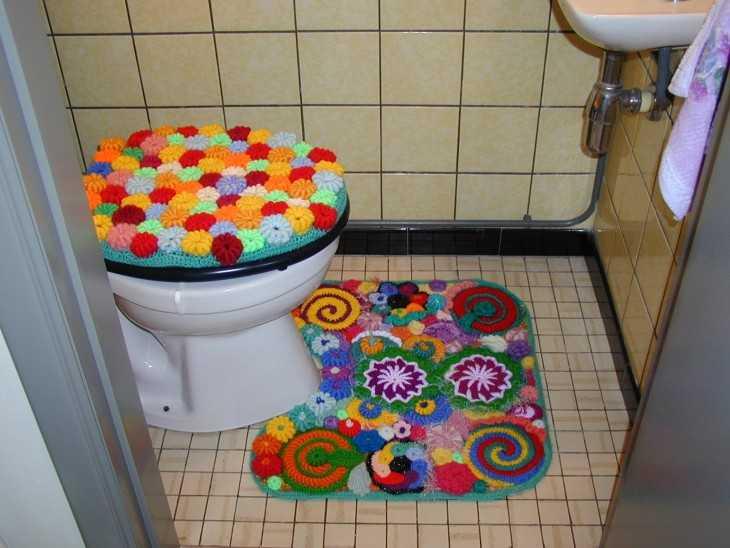 Коврики своими руками для туалета