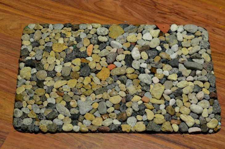 Коврик из камней своими руками фото