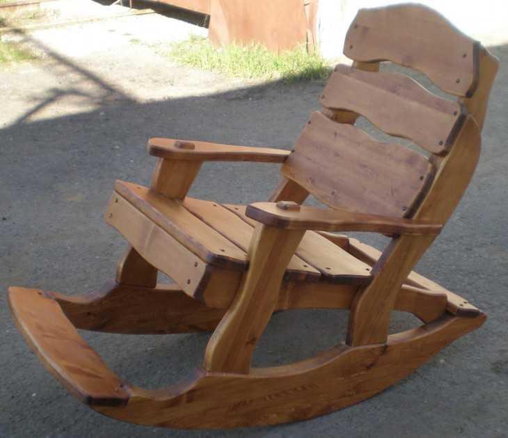 Кресло качалки для дачи своими руками
