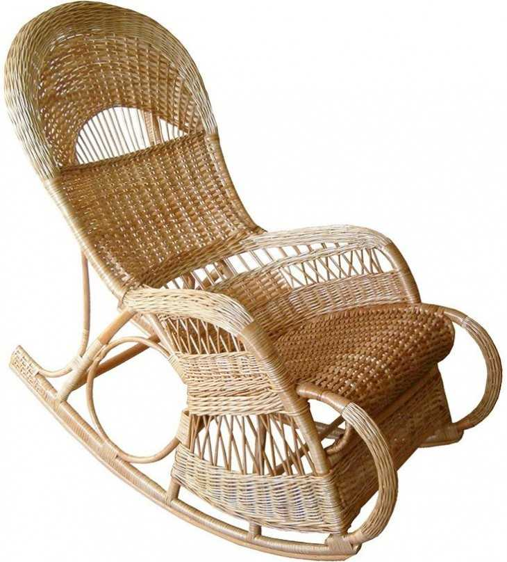 Плетёное кресло качалка своими руками 10