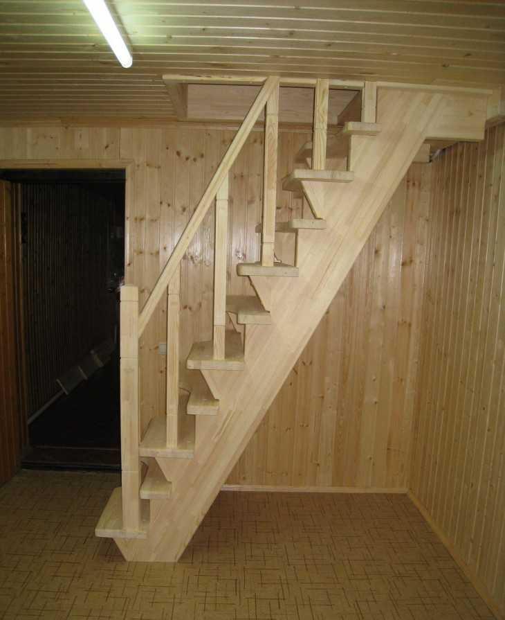 Лестница дачи своими руками дерева фото 779