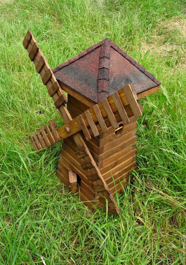 Как сделать декоративную мельницу в саду 930