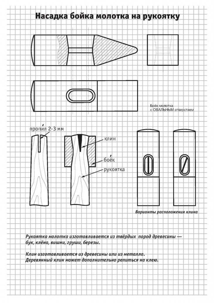 Молоток своими руками чертежи 216