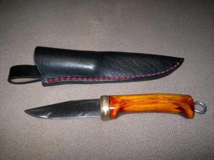 Изготовление рукояти ножа своими руками 53