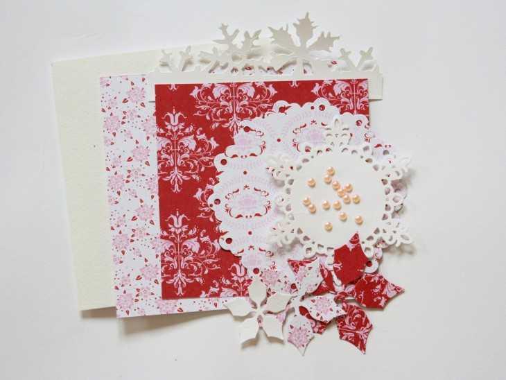 Открытки с рождеством своими руками из бумаги7