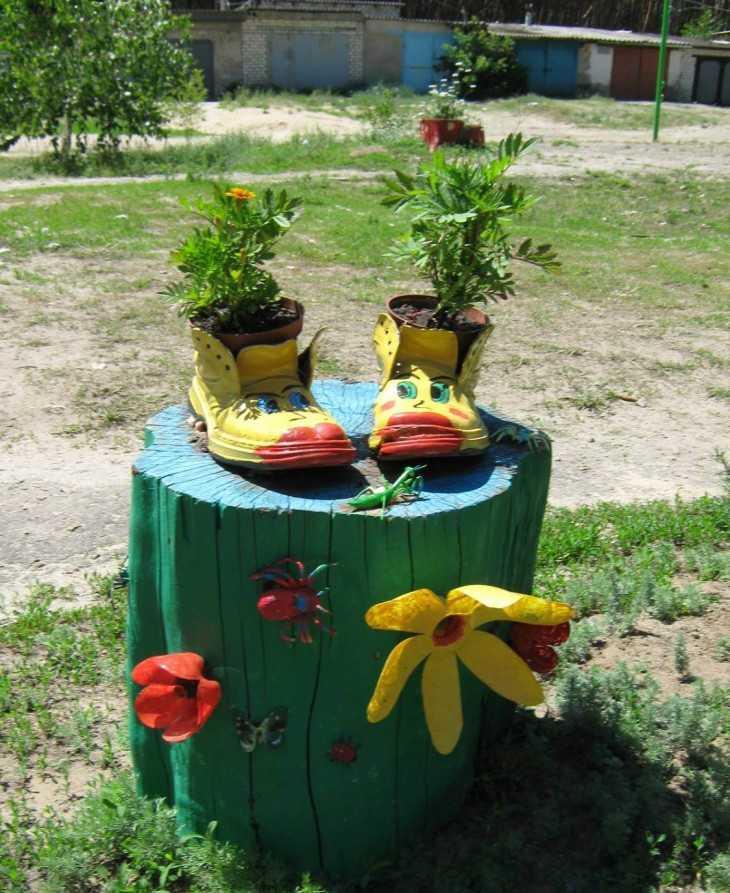 Украсить свои огород своими руками