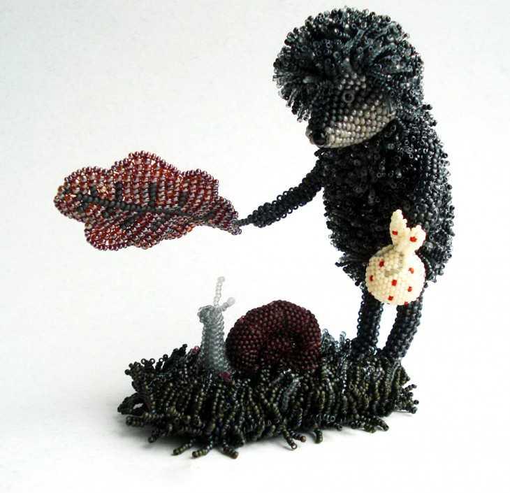 Инструкции плетения бисером фото