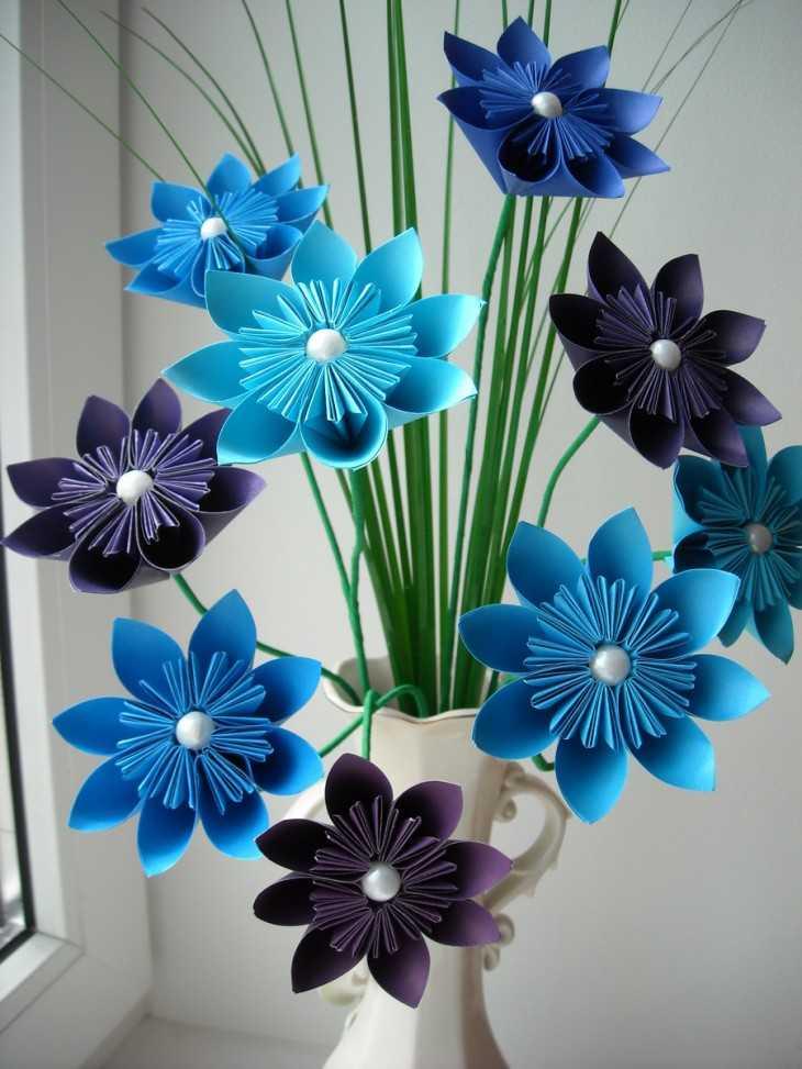 Поделка из бумаги цветы