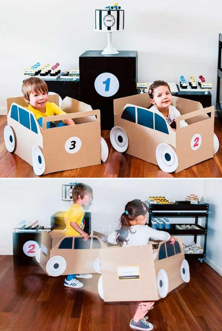Мебель из коробок своими руками для детей фото 58