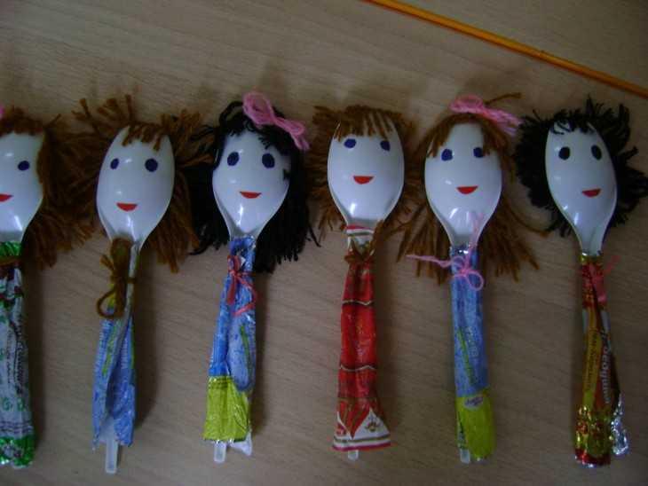 Кукольный театр из пластиковых ложек своими руками