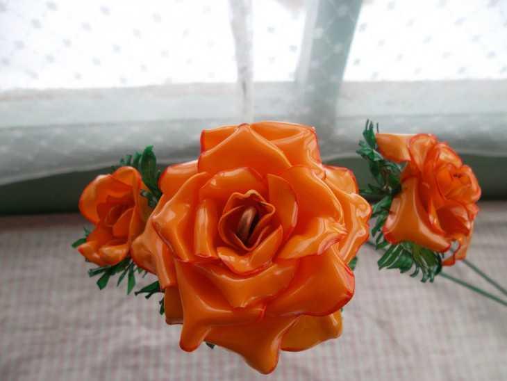 Как из пластиковой бутылки сделать розу