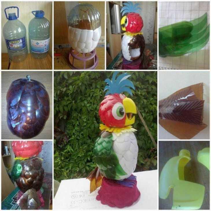 Как изготовить поделки из пластиковых бутылок своими руками