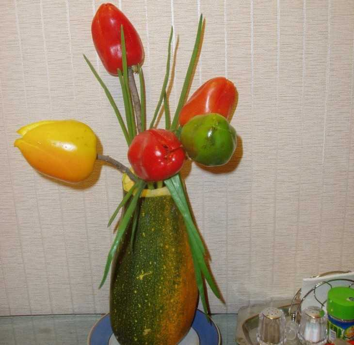 Тюльпаны из перца поделка