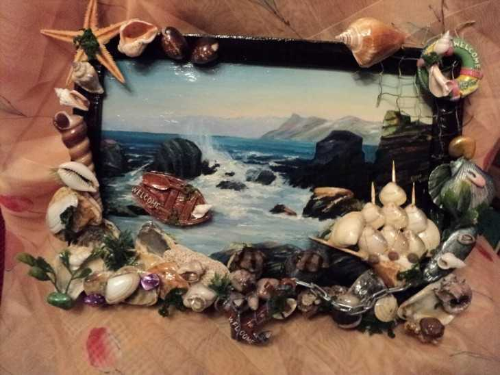 Поделки из природного материала на тематику морскую 37