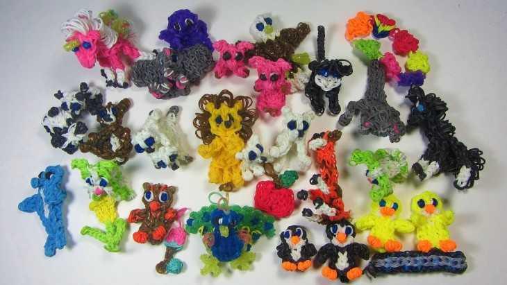 Плетение резинками видео игрушки