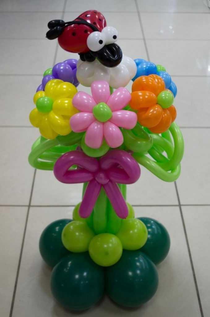 Поделки из воздушных шариков цветы 81