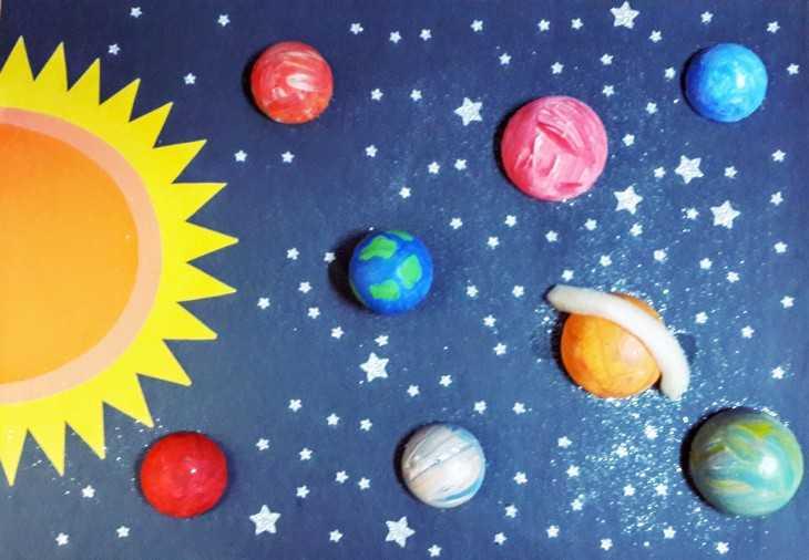 Поделка Солнечная система из пластилина Детский сайтик 87
