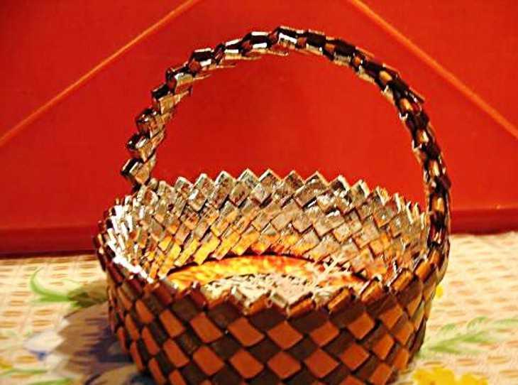 Поделки своими руками корзинка для конфета