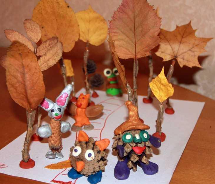 Поделки из природного в детский сад
