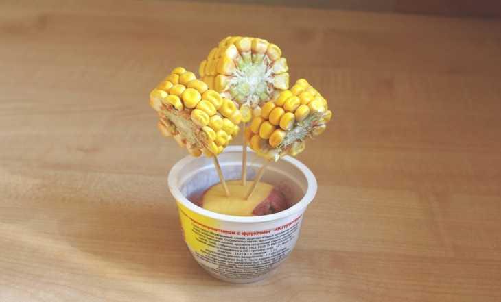 Поделки в садик из кукурузы