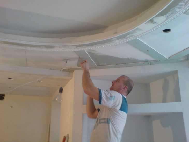 Пошаговая инструкция многоуровневого потолка своими руками 76