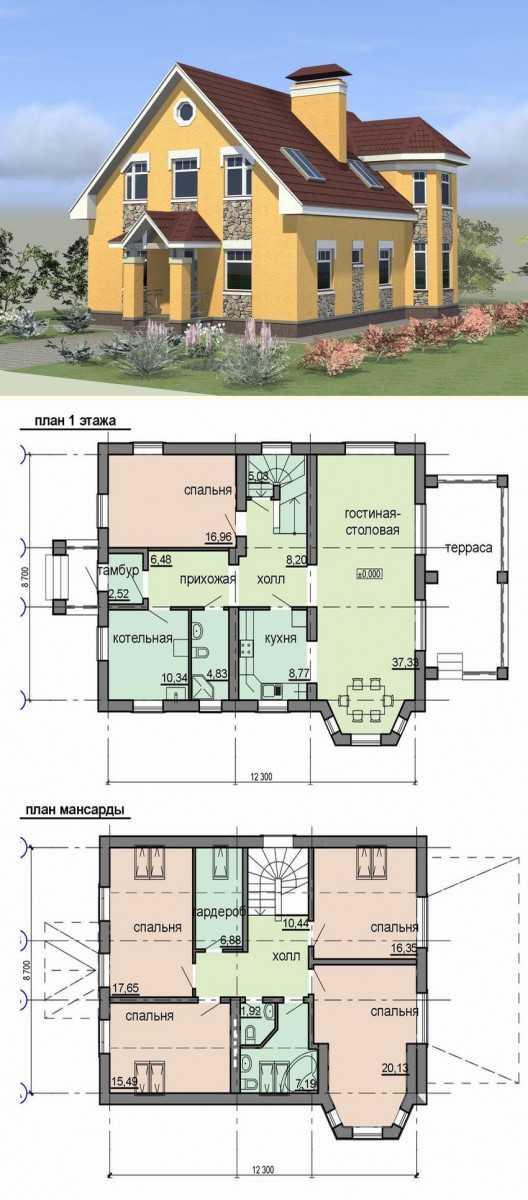 Схема дома фото 1 этажного