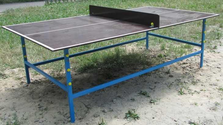 Как сделать самому теннисный стол для дачи