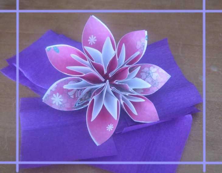 Зимние цветы из бумаги своими руками