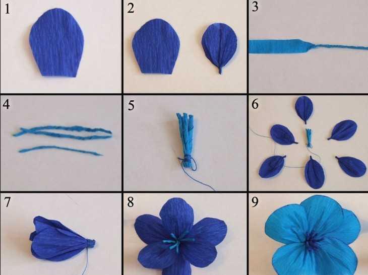 Цветы из гофрированной бумаги своими руками схемы шаблоны для детей