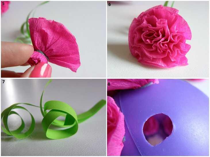 Как легко сделать цветы из гофрированной бумаги своими руками поэтапно фото
