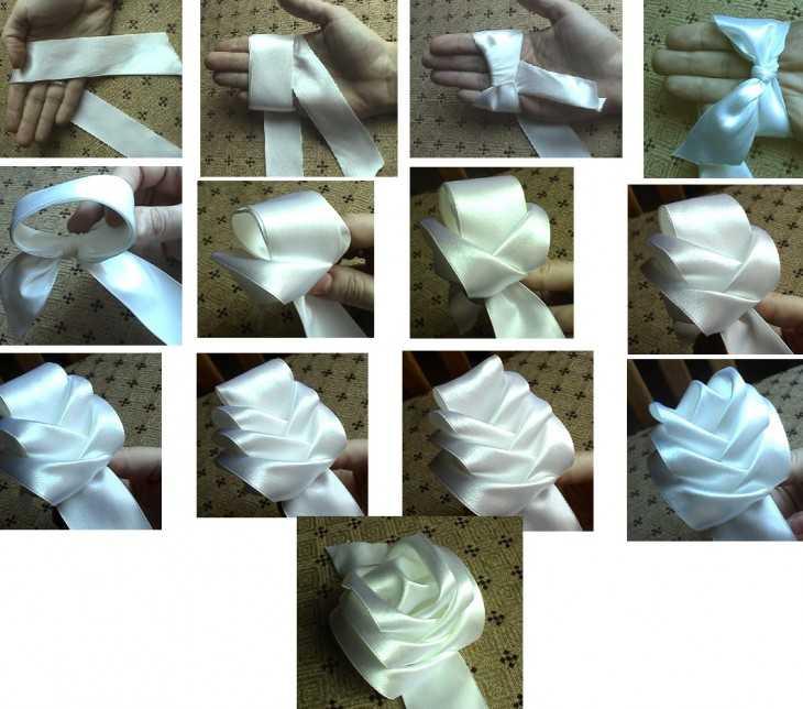 Бантики из лент с рисунками своими руками пошаговая инструкция 21