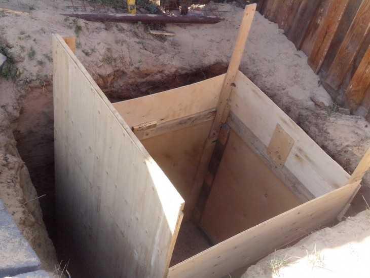 Как сделать опалубку для ямы 136