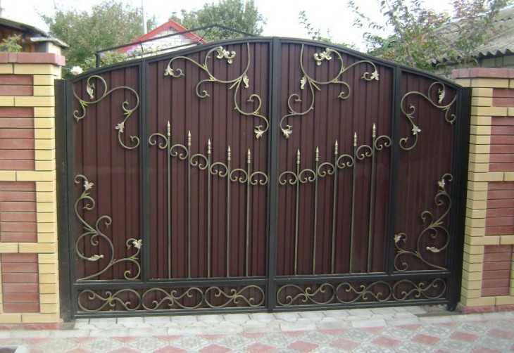 Ворота своими руками из металла фото 10
