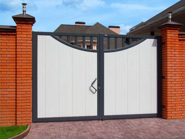 ворота для дома своими руками фото