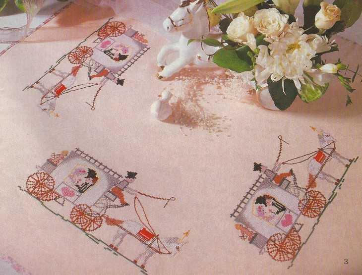 Схема вышивки свадебный мотив
